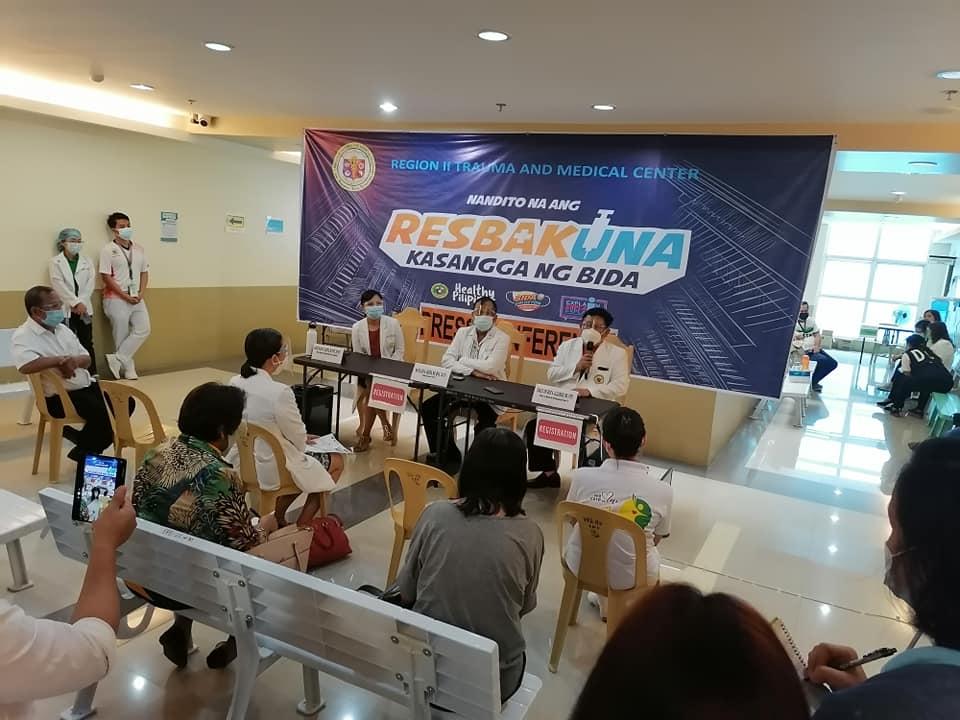 1st COVID-19 Vaccination in Nueva Vizcaya held at the R2TMC