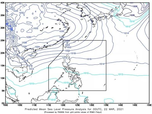 Tail-end of Frontal System (Shear Line) affecting Northern Luzon
