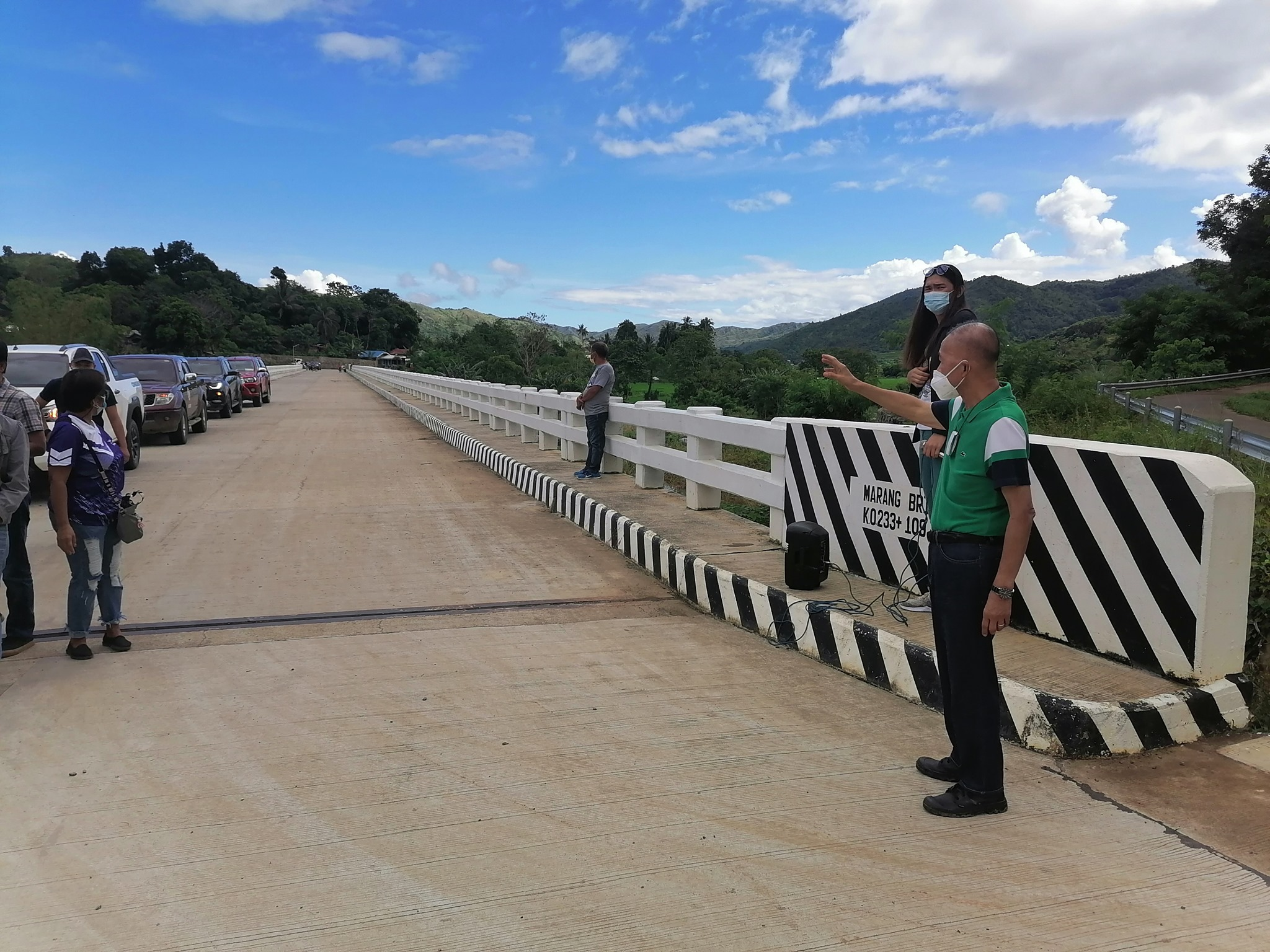 Governor Carlos M. Padilla conducts a 3-day inspection of various infrastructure projects